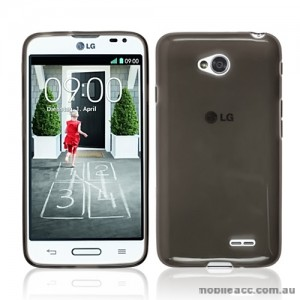 TPU Gel Case Cover for LG L70 - Smoke Black