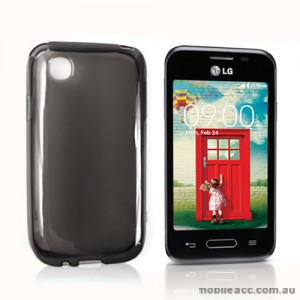 TPU Gel Case Cover for LG L40 - Smoke Black