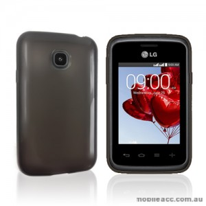 TPU Gel Case Cover for LG L20  - Dark Grey