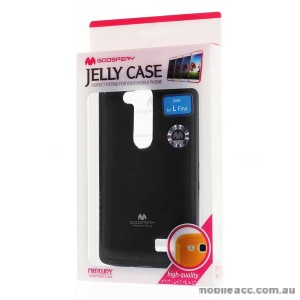 Korean Mercury TPU Gel Case Cover for LG L Fino - Black