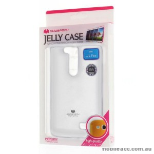 Korean Mercury TPU Gel Case Cover for LG L Fino - White