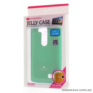 Korean Mercury TPU Gel Case Cover for LG L Fino - Mint