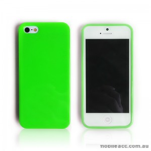 Matte-in TPU Gel Case for iPhone 5/5S/SE - Green