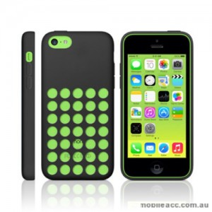 Premium Soft Silicone DOT Hole Case Cover For Apple iPhone 5C - Black