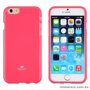 Mercury Pearl TPU Gel Case Cover for iPhone 6/6S - Hot Pink