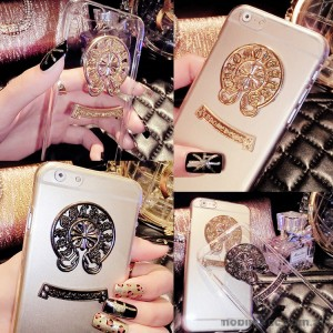Magic Hearts TPU Gel Case Cover for iPhone 6/6S Gold / Silver