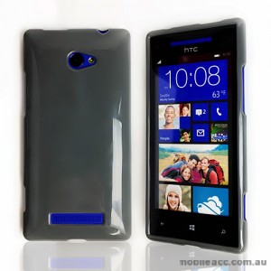 TPU Gel Case for HTC Windows Phone 8X - Dark Grey