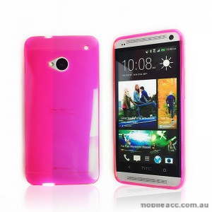 TPU Gel Case for HTC One M7 - Hot Pink