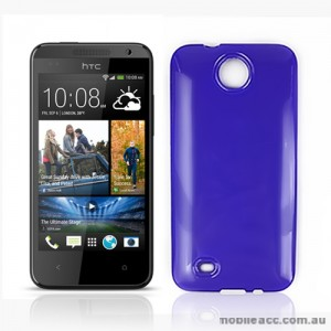 TPU Gel Case Cover for HTC Desire 300 - Purple