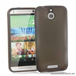 TPU Gel Case Cover for HTC Desire 510 - Dark Grey