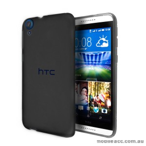 TPU Gel Case Cover for HTC Desire 820 - Smoke Black