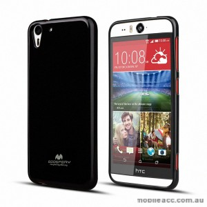 Korean Mercury Pearl TPU Case Cover for HTC Desire Eye - Black