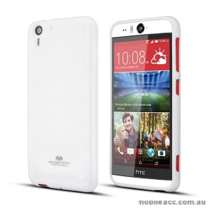 Korean Mercury Pearl TPU Case Cover for HTC Desire Eye - White