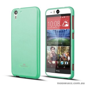 Korean Mercury Pearl TPU Case Cover for HTC Desire Eye - Mint