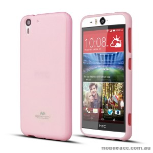 Korean Mercury Pearl TPU Case Cover for HTC Desire Eye - Light Pink