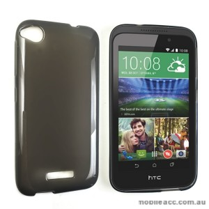 TPU Gel Case Cover for HTC Desire 320 - Dark Grey
