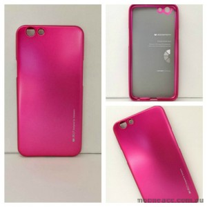 Mercury Goospery iJelly Gel Case For Oppo F1S - Hot Pink