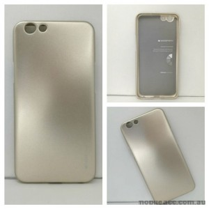 Mercury Goospery iJelly Gel Case For Oppo F1S - Gold