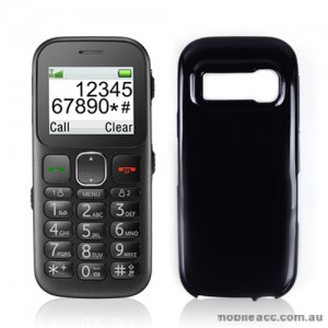 TPU Gel Case Cover for Telstra Easycall 3 T303 - Black