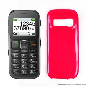TPU Gel Case Cover for Telstra Easycall 3 T303 - Hot Pink × 2