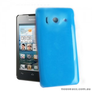 TPU Gel Case for Telstra Huawei Ascend Y300 - Blue