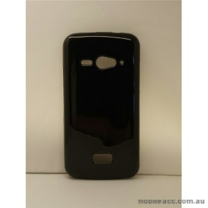 2X TPU Gel Case for Telstra ZTE Tough Max T84  Jet Black