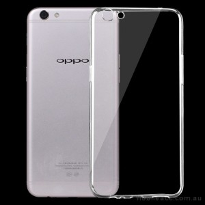 TPU Gel Case Cover For Oppo R9s - Clear