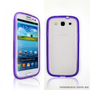 TPU   PC Case for Samsung Galaxy S3 i9300 - Purple
