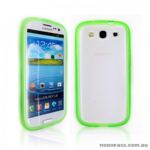 TPU   PC Case for Samsung Galaxy S3 i9300 - Green