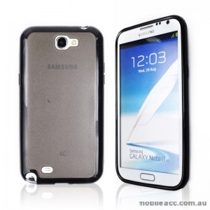 TPU   PC Case for Samsung Galaxy Note2 N7100 - Black