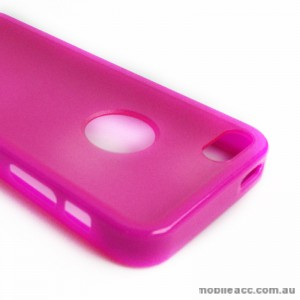 TPU   PC Back Case with Window for iPhone 5/5S/SE - Pink