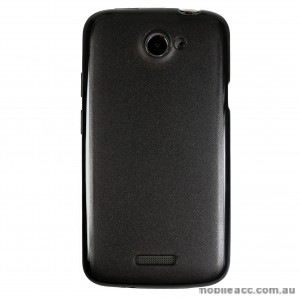 TPU   PC Back Case for HTC One X - Black