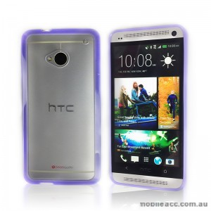 TPU   PC Case for HTC One M7 - Purple