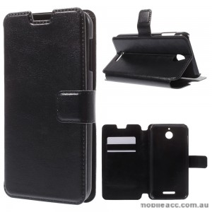 Crazy Horse Texture Leather Stand Wallet Case for HTC Desire 510