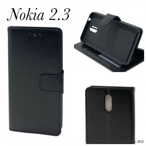 Wallet Pouch Cover for Nokia 2.3  Blk