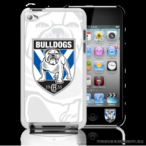 NRL Licensed Canterbury Bankstown Bulldogs Watermark Back Case for iPod Touch 4