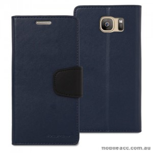 Korean Mercury Sonata Wallet Case for Samsung Galaxy S7 Navy