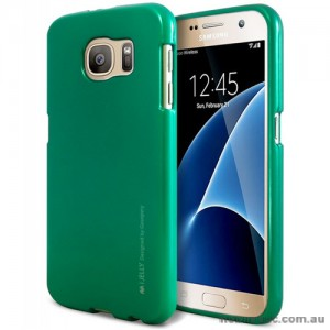 Mercury Goospery iJelly Gel Case For Samsung Galaxy S7 - Green