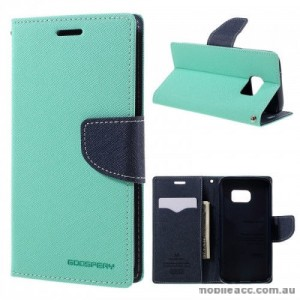 Korean Mercury Fancy Diary Wallet Case For Samsung Galaxy S7 Edge - Mint