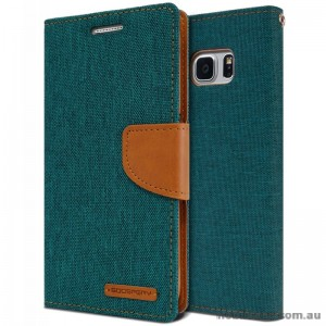 Korean Mercury Canvas Diary Wallet Case For Samsung Galaxy Note 7 -  Green