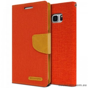 Korean Mercury Canvas Diary Wallet Case For Samsung Galaxy Note 7 -  Orange