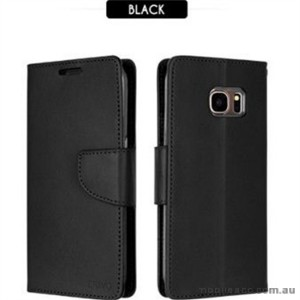 Korean Mercury Bravo Diary Wallet Case For Samsung Galaxy Note 7 - Black