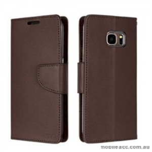 Korean Mercury Bravo Diary Wallet Case For Samsung Galaxy Note 7 - Brown
