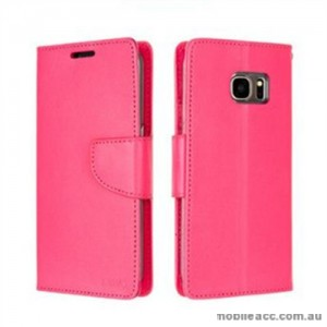 Korean Mercury Bravo Diary Wallet Case For Samsung Galaxy Note 7 - Hot Pink