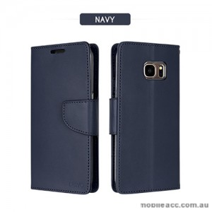 Mercury Goospery Bravo Diary Wallet Case For Samsung Galaxy S8 Plus - Navy