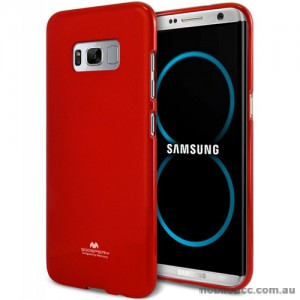 Mercury Pearl TPU Jelly Case for Samsung Galaxy S8 Plus Red