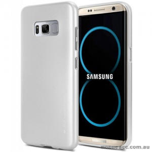 Mercury Goospery iJelly Gel Case For Samsung Galaxy S8 Plus Silver White