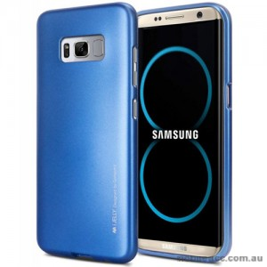 Mercury Goospery iJelly Gel Case For Samsung Galaxy S8 Plus Blue
