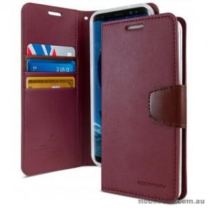 Mercury Goospery Sonata Diary Stand Wallet Case For Samsung Galaxy S9 - Ruby Wine