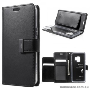 Mercury Rich Diary Wallet Case for Samsung Galaxy S9 - Black